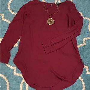 Forever 21 cranberry shirt long sleeve